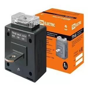 Трансформатор тока измерительный с шиной ТТН-Ш 250/5- 5VA/0,5S TDM