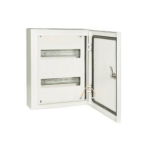 Корпус металлический ЩРН-24 IP66 НЕСТАНДАРТ (395х330х120) RAL 7035 TDM