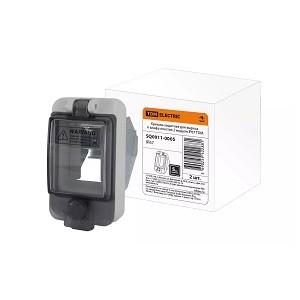 Крышка защитная для выреза в шкафу пластик 2 модуля IP67 TDM