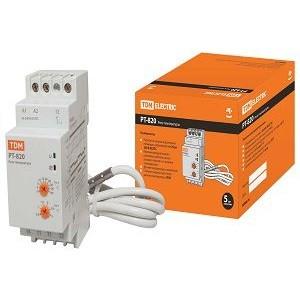 Реле температуры РТ-820 (-5+40С, 24-240В АС/DC, с датч. IP67) TDM