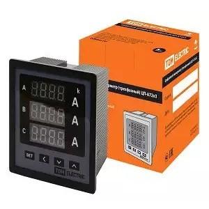 Цифровой амперметр ЦП-А72х3 0-50кА-0,5 (трехфазный, акционный) TDM (снят с производства)