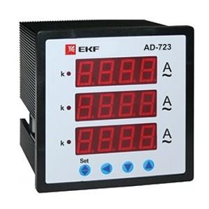 АМ-D723 Амперметр цифровой на панель (72х72) трехфазный EKF
