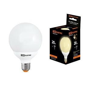Лампа энергосберегающая КЛЛ-G95-20 Вт-2700 К–Е27 TDM