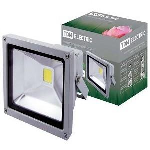 Прожектор светодиодный СДО20-1 20Вт, серый, TDM