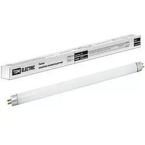 Лампа люминесцентная линейная двухцокольная ЛЛ-16/8 Вт, T5/G5, 4000 К, длина 302,5мм TDM