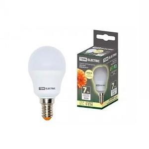 Лампа светодиодная FG45-7 Вт-230 В-3000 К–E14 TDM