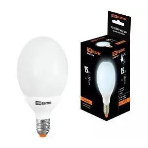 Лампа энергосберегающая КЛЛ-G80-15 Вт-4000 К–Е27 TDM