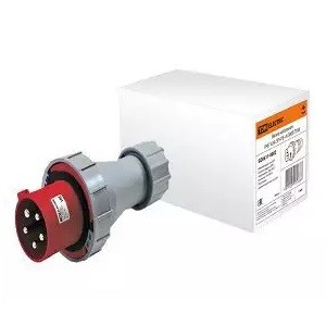 Вилка кабельная IP67 63А 3Р+РЕ+N 380В TDM