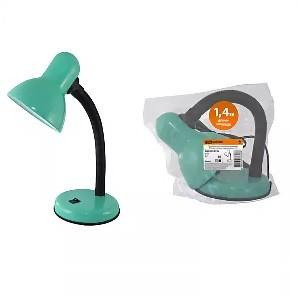 Светильник настольный на основании 60Вт, E27 зеленый (мягкая упак.) TDM