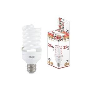 Лампа люминесцентная НЛ-FSТ2-25 Вт-2700 К–Е27 (54х126 мм), Народная