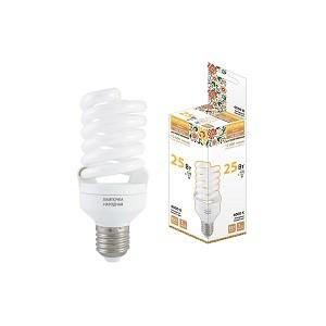 Лампа люминесцентная НЛ-FSТ2-25 Вт-4000 К–Е27 (54х126 мм), Народная