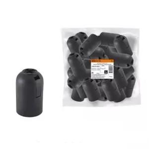 Патрон Е27 подвесной, термостойкий пластик, черный, Б/Н TDM