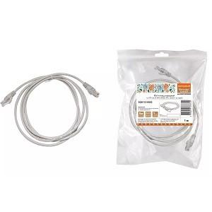 Патч-корд народный U/UTP Cat 5e 4PR 24AWG PVC, литой 1 м, серый