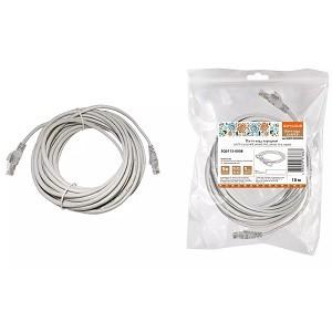 Патч-корд народный U/UTP Cat 5e 4PR 24AWG PVC, литой 10 м, серый