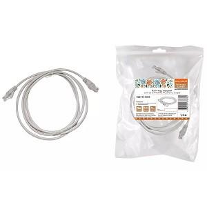 Патч-корд народный U/UTP Cat 5e 4PR 24AWG PVC, литой 1,5 м, серый