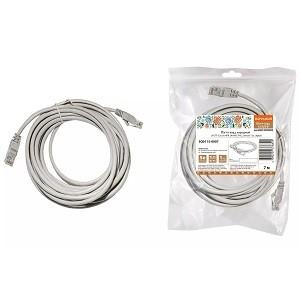 Патч-корд народный U/UTP Cat 5e 4PR 24AWG PVC, литой 7 м, серый