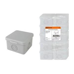 Распаячная коробка ОП 65х65х50мм, крышка, IP54, 4вх., без гермовводов TDM