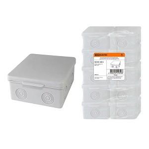 Распаячная коробка ОП 80х80х50мм, крышка, IP54, 7вх., без гермовводов TDM