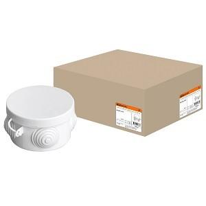 Распаячная коробка ОП D65х40мм, крышка, IP54, 4вх. TDM