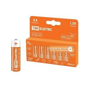 Элемент питания LR6 AA Alkaline 1,5V PAK-8 TDM