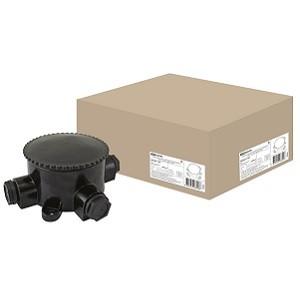 Коробка электромонтажная КЭМ 2-660-3 ОП D95 мм IP65, 3-х рожк. (карболит) TDM