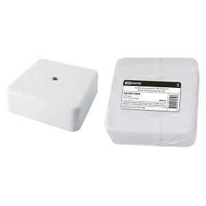 Коробка распаячная КР 100х100х44 ОП белая, IP40, инд. штрихкод TDM