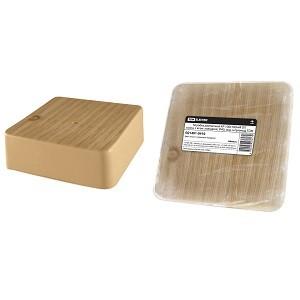 Коробка распаячная КР 100х100х44 ОП сосна, с клем. колодкой, IP40, инд. штрихкод TDM