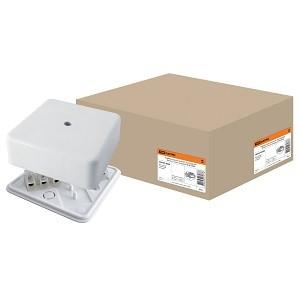 Коробка распаячная КР 75х75х28 ОП с клем. колодкой белая IP40 TDM