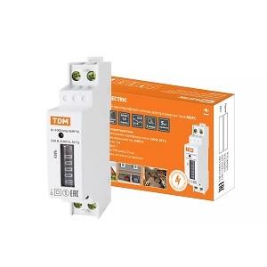 Счетчик без поверки (измеритель потребляемой электроэнергии) МАРС-б/п-1,0-11-Р1-5(40)-М (1ф, 1тар, din-рейка, 1мод, мех.ОУ) TDM