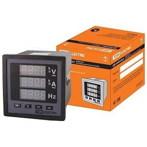 Цифровой многовеличинный прибор (однофазный) ЦП-АВЧ72х3-0,5 (0-50кА, 0-999кВ, 40-70Гц, акц.) TDM