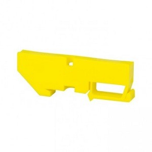 Изолятор на DIN-рейку желтый EKF