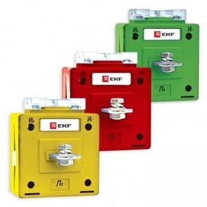 Трансформатор тока ТТЭ-А-5/5А класс точности 0,5S (color) EKF PROxima (снят)