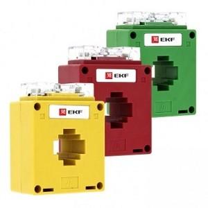 Трансформатор тока ТТЭ-30-150/5А класс точности 0,5S (color) EKF PROxima (снят)