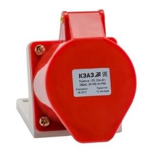 Розетка для монтажа на поверхность 115-16А-6h-380AC-3P+PE-IP44