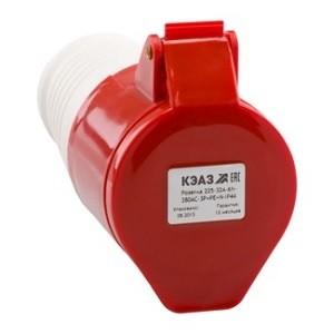 Розетка кабельная 215-16А-6h-380AC-3P+PE+N-IP44