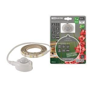 Умная подсветка SMD2835-30LED/m-IP20-5В-2,4Вт-6000К(1 м),датчик движ.и освещ.,акк. Li-Ion1100мАч TDM