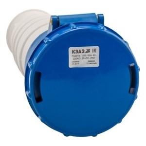 Розетка кабельная 233-63А-6h-220AC-2P+PE-IP67