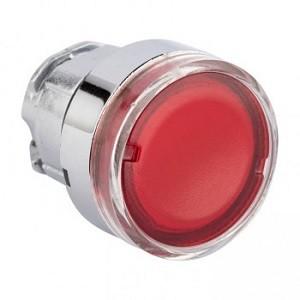 Исполнительный механизм кнопки XB4 красный плоский  возвратный без фиксации, с подсветкой EKF PROxim