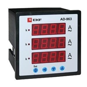 АМ-D963 Амперметр цифровой на панель (96х96) трехфазный EKF