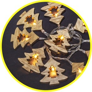 Гирлянда Navigator 14 047 NGF-D009-10WW-2AA-деревянные звёздочки